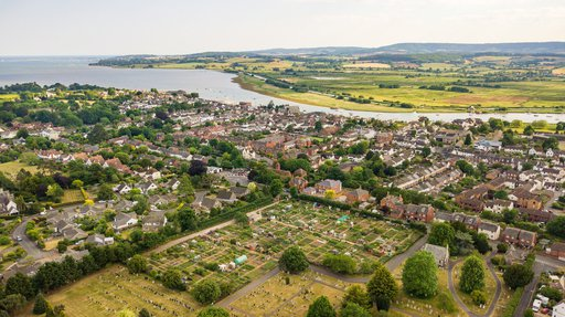 View over Butts Park and the Exe Estuary